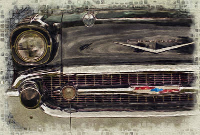 '57 Chevy Belair  Poster by Jack Zulli
