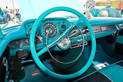 57 Chevy Belair Turquoise Poster