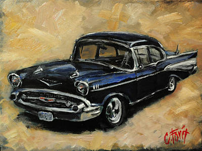 57 Chevy Poster by Carole Foret