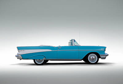 57 Chevy Convertible Poster by Douglas Pittman