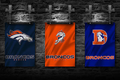 Denver Broncos Poster by Joe Hamilton
