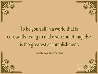 58- Ralph Waldo Emerson Poster