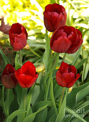Poster featuring the photograph 5tulips by Susan Crossman Buscho
