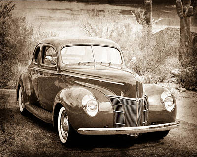 1940 Ford Deluxe Coupe Poster by Jill Reger