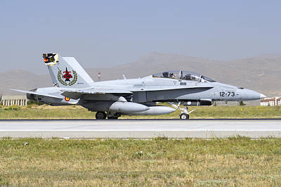 A Spanish Air Force Ef-18m Hornet Poster