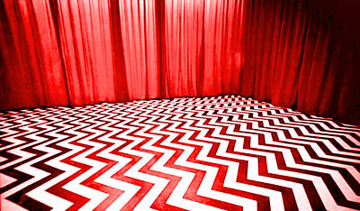 Poster featuring the painting Black Lodge by Luis Ludzska