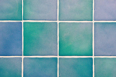 Blue Tiles Poster by Tom Gowanlock