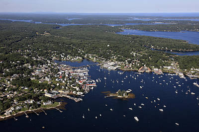 Boothbay Harbor, Maine Poster by Dave Cleaveland