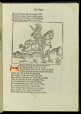 Canterbury Tales Poster by British Library