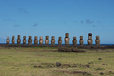 Chile, Easter Island, Hanga Nui Poster by Cindy Miller Hopkins