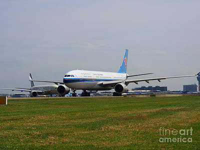 China Southern Airlines Airbus A330 Poster by Paul Fearn