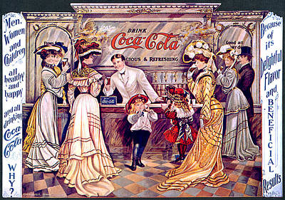 Coca - Cola Vintage Poster Poster by Gianfranco Weiss