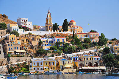 Colorful Symi Poster
