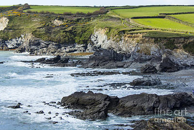 Cornish Seascape Gunwalloe Poster