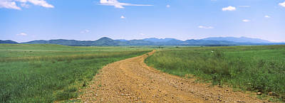 Dirt Road Passing Through A Landscape Poster