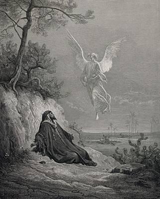 Dore, Paul Gustave 1832-1883. La Sainte Poster by Everett