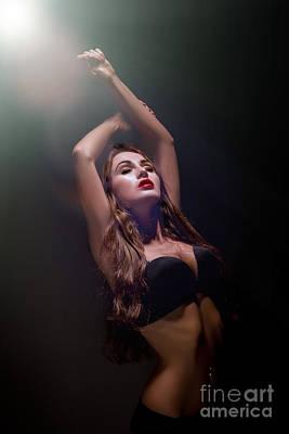 Girl Bared Dancing Poster by Aleksey Tugolukov