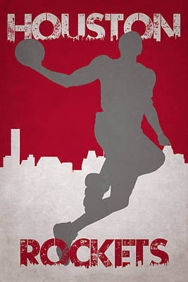 Houston Rockets Poster by Joe Hamilton