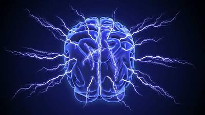 Human Brain Poster by Andrzej Wojcicki