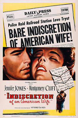 Indiscretion Of An American Wife,  Aka Poster by Everett