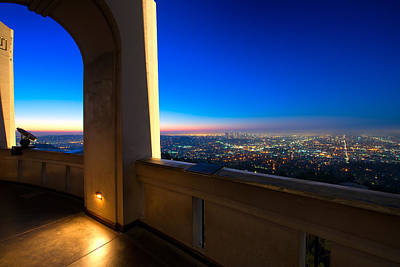 Los Angeles As Seen From The Griffith Observatory Poster by Celso Diniz