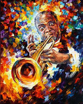 Louis Armstrong Poster by Leonid Afremov