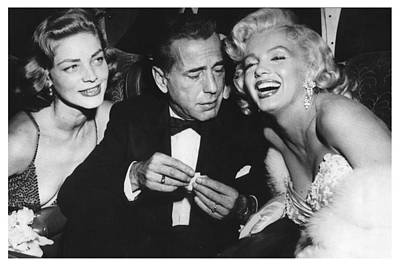 Marilyn Monroe Lauren Bacall Humphrey Bogart How To Marry A Millionaire Premiere November 4 1953 Poster by Douglas MooreZart