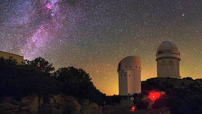 Milky Way Over Kitt Peak Observatory Poster by Babak Tafreshi