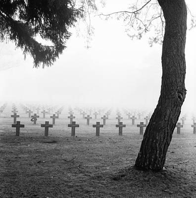Mist At Cemetery Poster by Dirk Ercken