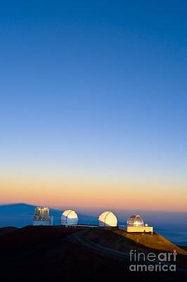 Observatories On Summit Of Mauna Kea Poster