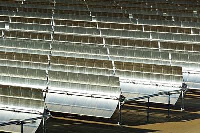 Parabolic Trough Solar Power Plant Poster by Philippe Psaila