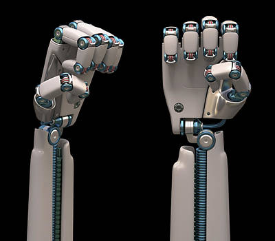 Robotic Hand Poster by Ktsdesign
