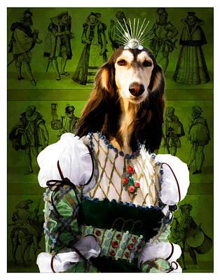 Saluki Art Canvas Print Poster by Sandra Sij