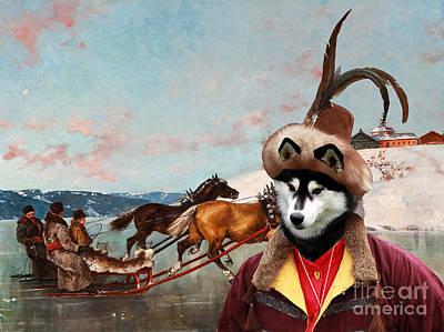 Siberian Husky Art Canvas Print Poster