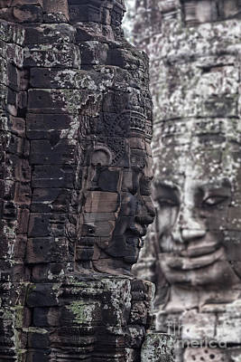 Smiling Faces Of Bayon Poster