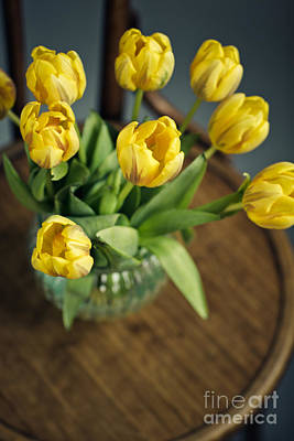 Still Life With Yellow Tulips Poster