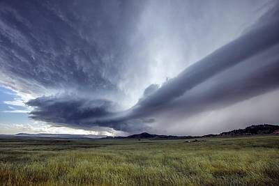 Supercell Thunderstorm Poster by Roger Hill