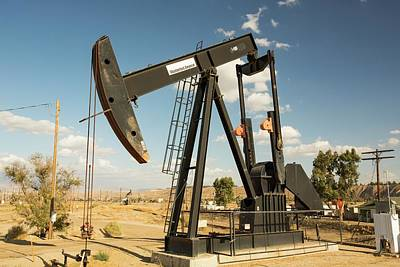 The Kern River Oilfield In Oildale Poster by Ashley Cooper