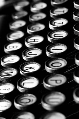 Typewriter Keys Poster by Falko Follert