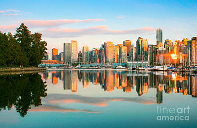 Vancouver Sunset Poster by JR Photography