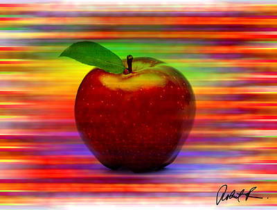 60x45 Print Or Canvas Wrap The Apple By Robert R Signed Prints Poster