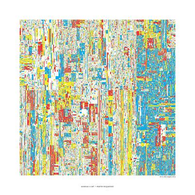 612330 Digits Of Pi Poster by Martin Krzywinski