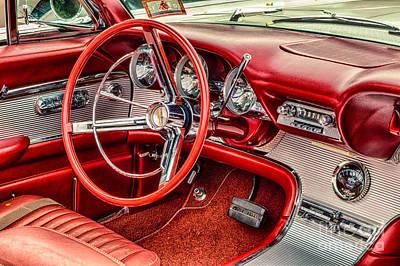 62 Thunderbird Interior Poster