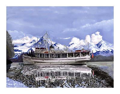 Alaska Yachting Poster by Jack Pumphrey