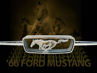 '66 Ford Mustang Poster by Doug Kreuger