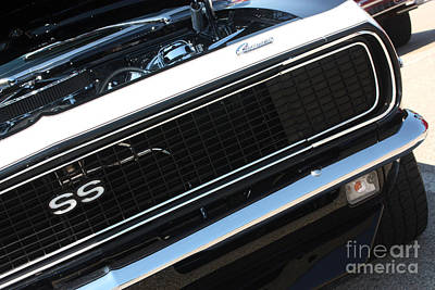 67 Black Camaro Ss Grill-8039-2 Poster
