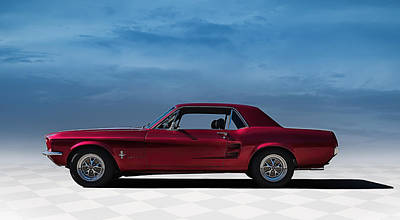 67 Mustang Poster by Douglas Pittman