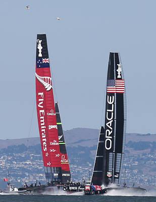 America's Cup 34 Poster by Steven Lapkin