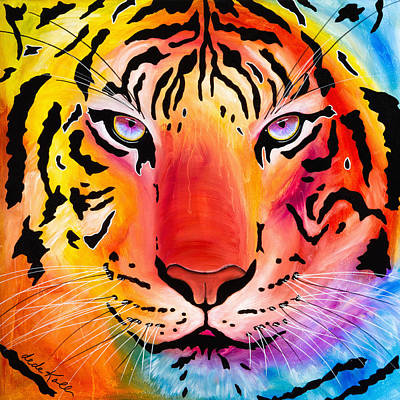 Poster featuring the painting Tiger by Dede Koll
