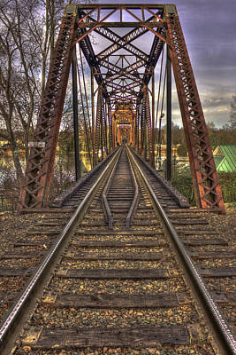 6th Street Rail Road Bridge Poster by Reid Callaway